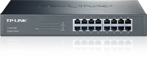 TP-LINK 16-Port 10/100/1000 Mbps Gigabit Ethernet Switch Black TL-SG1016D