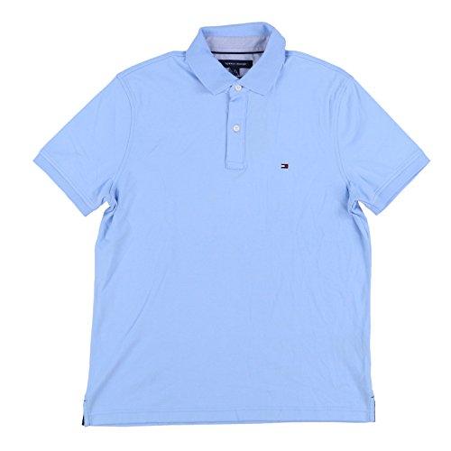 Tommy Hilfiger Mens Custom Fit Interlock Polo Shirt (Medium, Sky Blue)