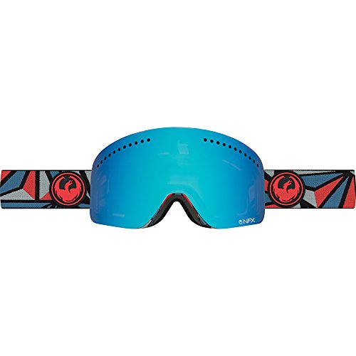 Ionized Goggles - 2017 Dragon NFX Structure Goggles w/ Blue Steel + Yellow/Red Ionized Lens