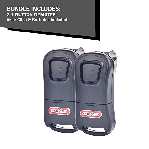 Genie 1-Button Remote for Controlling Single Garage Door – Simple and User-Friendly Garage Door Remote with Auto-Seek Dual Frequency, Model G1T (Pack of 2)