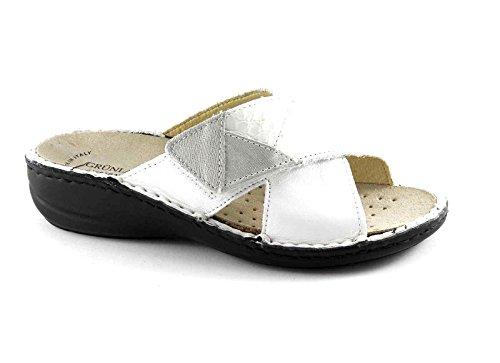 Grünland DARA CE0506 zapatillas blancas señora Tear plantilla extraíble Bianco