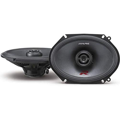 Image of Alpine R-Series 6 x 8 Inch 300 Watt Component 2-Way Car Speakers, Pair R-S68 Coaxial Speakers