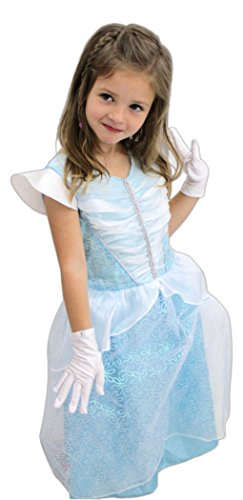 Tree Nymph Halloween Costumes (Great Pretenders Blue Princess Dress with White Gloves)