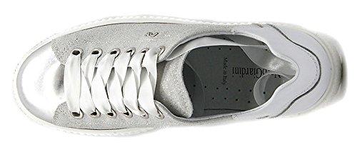 Nero Giardini Sneaker P805282-700 5282 Sportssko Hvid Læder Sølv Glitter Grigio O1DbmuR