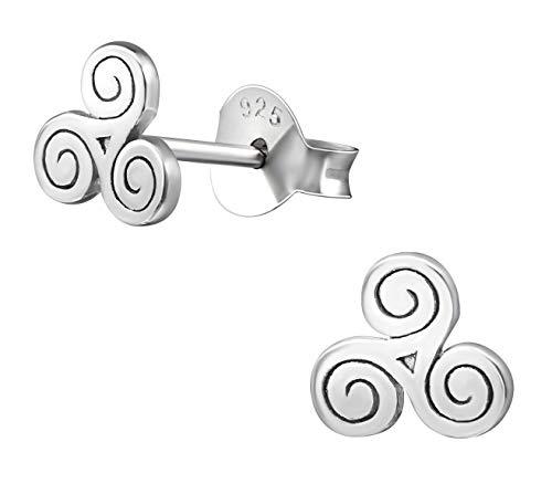 Sterling Triskele Silver (Best Wing Jewelry .925 Sterling Silver