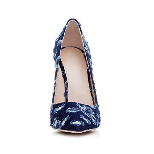 LBTSQ Damenschuhe Damenschuhe Damenschuhe Spitze Dünne Sohle Flachen Mund High - Heel Single - Schuh 01dc16