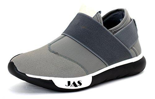 Hombre Sin Cierres Zapatillas Para Correr Informal Zapatillas De Diseñador Deporte Moda Gym Talla UK Gris