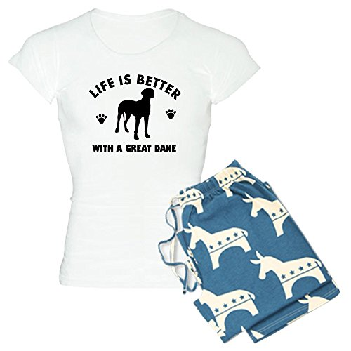 CafePress Great Dane Breed Design Womens Novelty Cotton Pajama Set, Comfortable PJ Sleepwear