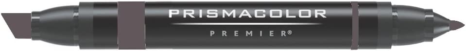 Prismacolor Double-Ended Marker, Broad and Fine Tip, PM106 Warm Gray 80% (3518)