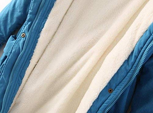 Doux Blau lgant Confortables Parker Manches Longues paissir Qualit Manteau Costume Transition Loisir Femme Hiver Manteau Long Bonne Warm De De Parka Outdoor paissir SwWE8vfCqB
