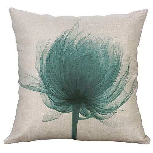 Yucode Flower Printing Home Decor Pillows Case Sofa Bed Decorative Cushion