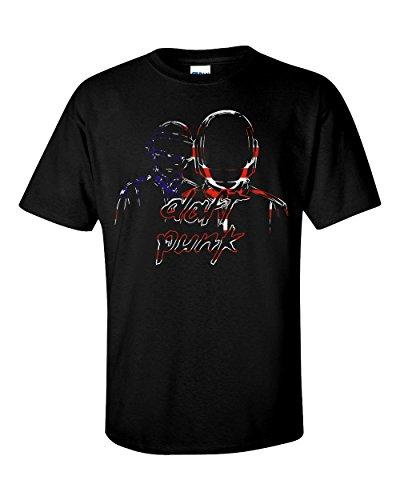 Daft Punk USA Flag T-Shirt Medium, Black