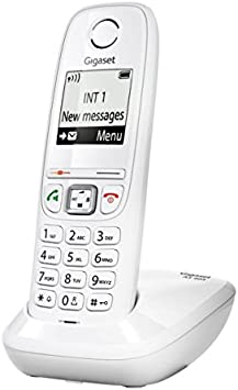 Gigaset AS405 - Teléfono (DECT, 50m, 300m, Color Blanco, Wall/Desk, Auricular): Amazon.es: Electrónica