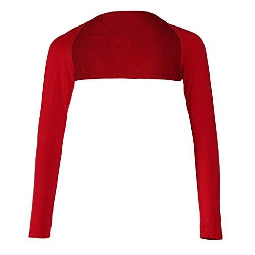 Bolero Cardigan Rot Estivi Donna Semplice Maniche Giacche Eleganti Primaverile Camicetta Monocromo Glamorous Lunghe Haidean ZqAdUwZ