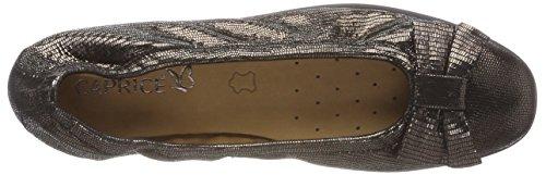 Caprice 22117, Ballerines Femme Gris (Gunmetalrep.com 929)