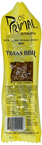 Primal Spirit, Vegan Meat Alternative Jerky, Texas Barbecue Flavor, 1 oz