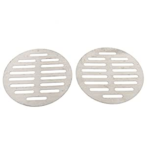 uxcell Kitchen Bathroom Round Floor Drain Drainer Cover 5 Inch Dia 2Pcs