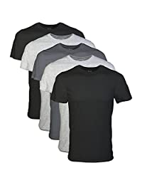 GILDAN Men's Crew T-Shirts 5 Pack