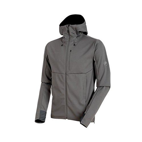 Mammut Ultimate V SO Hooded Jacket - Men's Titanium/Black, M ()