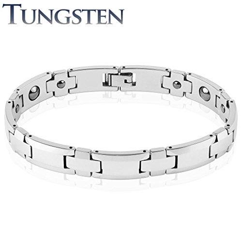 Coolbodyart Unisexe Bracelet en argent Tungstène plate Membres Longueur 225mm Largeur 10mm