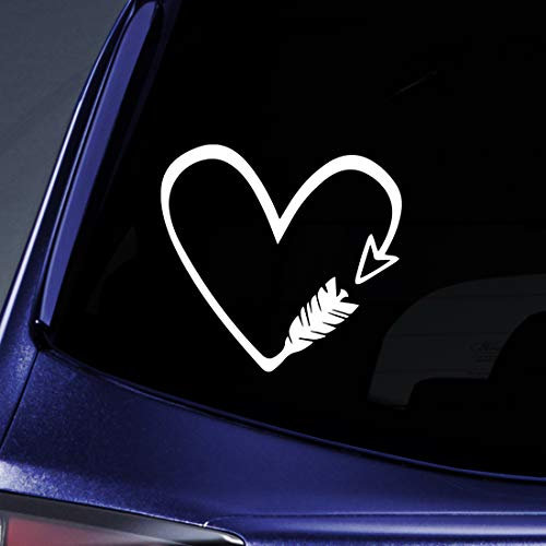Bow and Arrow Heart Sticker Decal Notebook Car Laptop 5.5