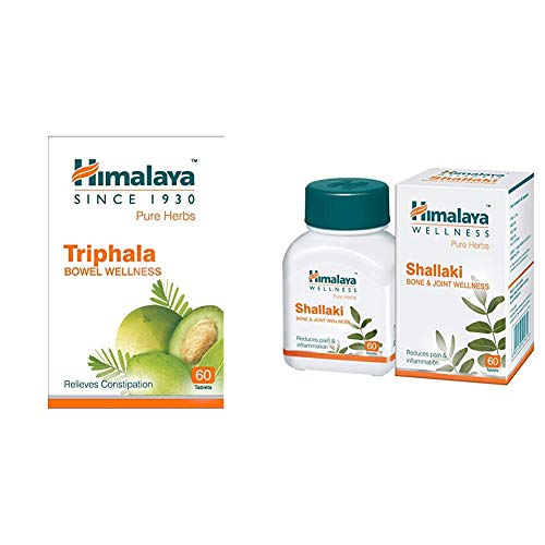 Himalaya Wellness Pure Herbs Triphala Bowel Wellness – 60 Tablets & Himalaya Wellness Pure Herbs Brahmi Mind Wellness…