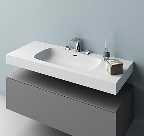- Planit Stella Washbasins bathroom top with built-in bowl in Corian Glacier STELLA 1