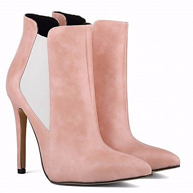RTRY Women's Shoes PU Fall Winter Fashion Boots Boots Stiletto Heel Pointed Toe Booties/Ankle Boots For Casual Camel Blushing Pink Black US6.5-7 / EU37 / UK4.5-5 / CN37 BfGMNo