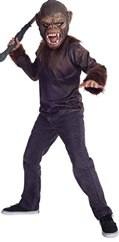 Caesar Deluxe Costumes (Rubies Dawn of The Planet of The Apes Caesar Costume, Child Medium)