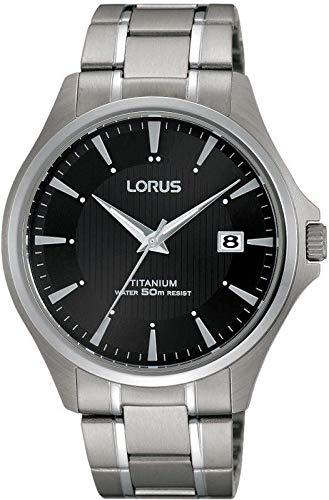 Men's Analogue Quartz Watch with Titanium Strap - LORUS RS931CX9