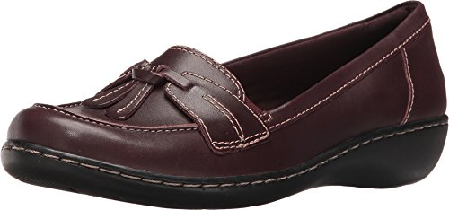 Clarks Women's Ashland Bubble Loafer, Burgundy Patent Leather, 7 M ()