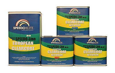 Speedokote SMR-1100-S - European Clear Coat 2K Urethane, 7.5 Liter Euro Clearcoat w/Slow Act.