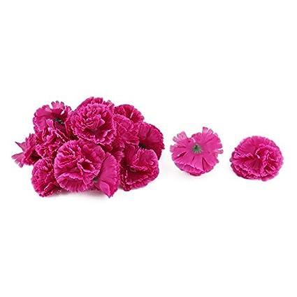 eDealMax Fiesta de la boda Tela Artificial Clavel cabezas de Flor DIY de la decoración 20pcs