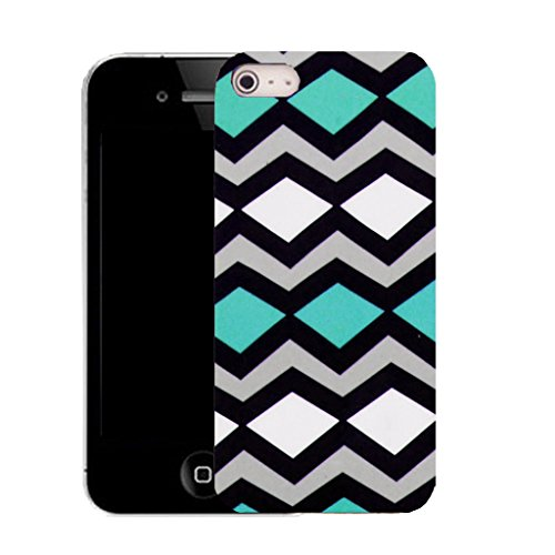 Mobile Case Mate IPhone 4 clip on Silicone Coque couverture case cover Pare-chocs + STYLET - diagonal pattern (SILICON)