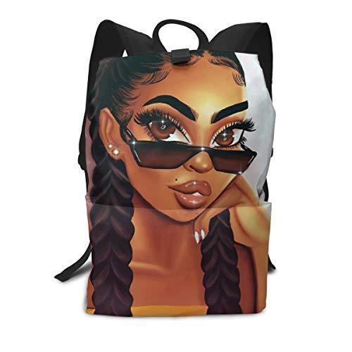 Trendy Teens & Adults Backpack Girl Art African American Women Travel Bag Daypacks | Ultralight Bookbag School,Camping,Trekking,Outdoor Sports from UOER