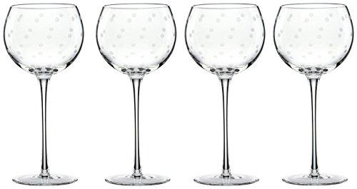 kate spade new york Larabee Dot Balloons Wine Glasses, Set of 4