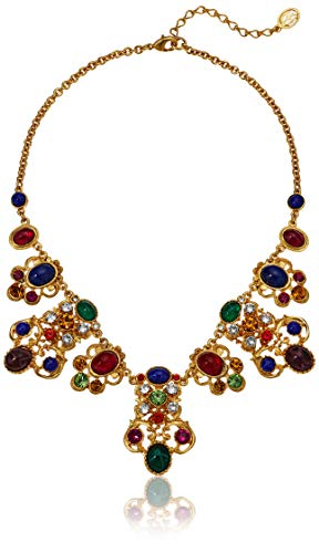 Ben-Amun Jewelry Victoria Multicolor Crystal and Glass Stone Pendant Necklace, 13 in. long