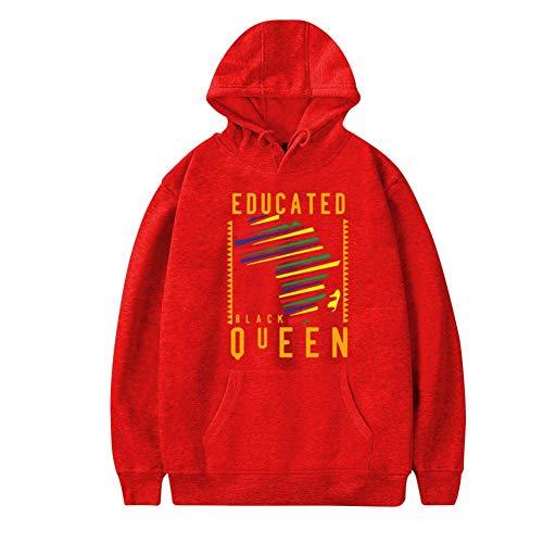 Mens Plus Velvet Hoodie,Dashiki Educated Black Womens Map Pattern Stylish Printed Classic Pocket Sweatshirt -