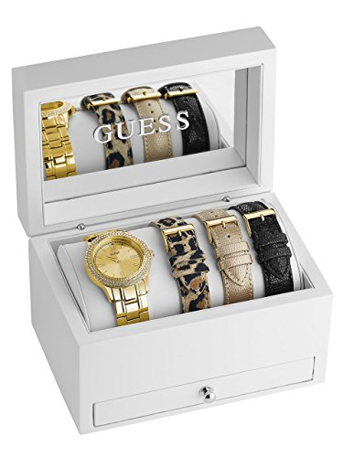 GUESS Women's Gold-Tone Classic Sparkle Watch Set