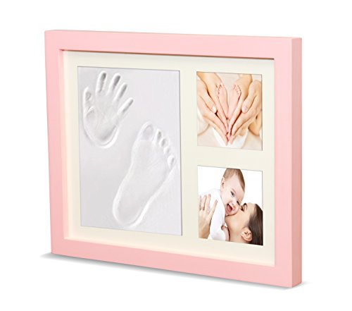 Timeless Newborn Baby Hand and Footprint Kit and Frame – Adorable Baby Keepsake Gift for New Moms, Dads, and Grandparents – Unique Baby Shower Gifts – Perfect for Baby Boy and Girl Room Decor by Ninos Unique Baby Gifts Ideas