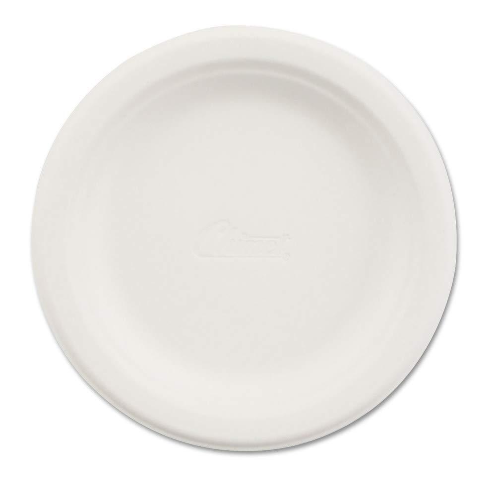 Chinet 21225 Paper Dinnerware, Plate, 6'' Dia, White, 1000/carton