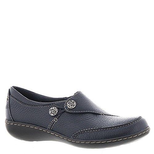 CLARKS Women's, Ashland Lane Q Slip On Shoe Navy 12 -