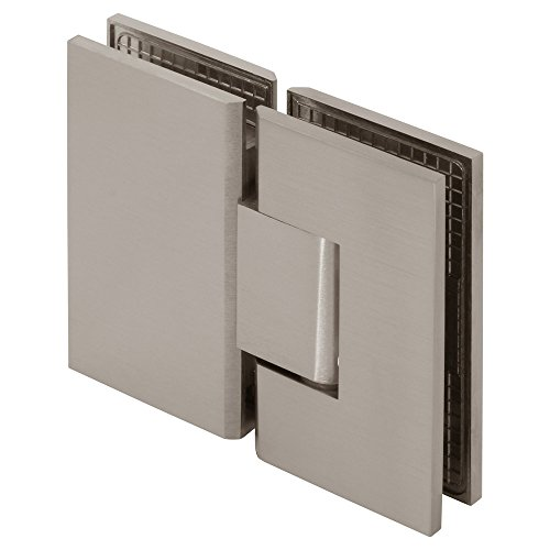 MODEXO H1VEN-1108BSN Venus Junior 180 Degree Glass Square Shower Hinge, Brushed Nickel