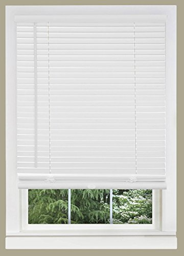 PowerSellerUSA Cordless Window Blinds, Privacy & Light Filtering 1″ Slats Vinyl Mini Blind, Anti-UV Window Treatment, Fits Windows 18″ – 72″, White, 45″ (Width) x 64″ (Length)