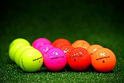 Poker Face 2 Piece Color Golf Ball Just Released New Brand Red Pink Neon Green Orange (Bulk)
