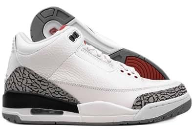 e2b9bc6795f ... norway amazon jordan nike air 3 retro iii 2011 white red grey mens  basketball shoes 136064