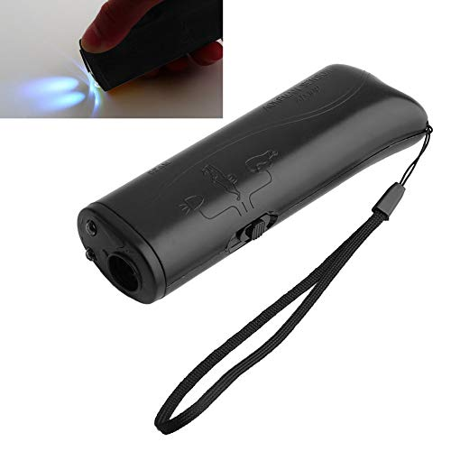 ZX101 Ultrasonic Aggressive Dog Pet Repeller Trainer Aid Stop Banish LED Flashlight Arrive Before Christmas