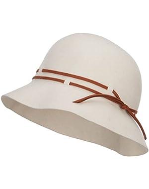1264cc9fd7232b Fanny Lady's Wool Floppy Wide Brim Winter Felt Hat with Bow Sz-z0011 ...