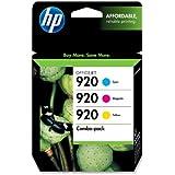 HP 920 Cyan, Magenta & Yellow Original Ink Cartridges, 3 pack (CN066FN)