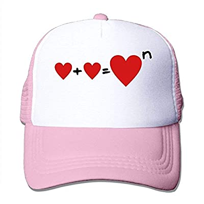 Heart Square Adjustable Snapback Baseball Cap Custom Mesh Trucker Hat from cxms